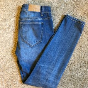 "Joe's Jeans ""The Skinny"" Desteoyed Jeans"
